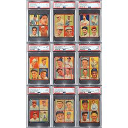1935 Goudey PSA Completely Graded Set of (36) Cards