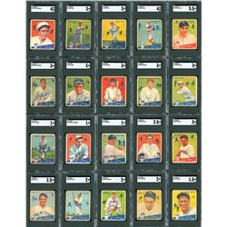 1934 Goudey SGC Fully Graded Complete Set (96)