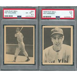 1939 Play Ball Partial Set of (135/162) with (10) PSA Graded