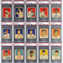 1949 Bowman Near Complete Set (230/240) with (18) PSA Graded