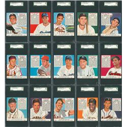 1952 Red Man Complete SGC Graded Set (52)