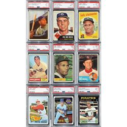 1950s-70s Topps and Bowman PSA Graded Superstar Collection (40)