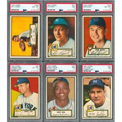 1952 Topps PSA Graded Collection of (7) with a PSA 8 High Number!