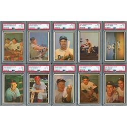 1953 Bowman Color Complete Set with (10) PSA Graded