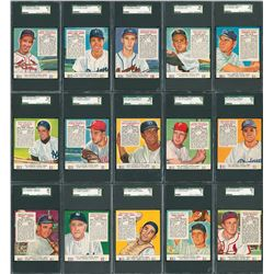 1953 Red Man Tobacco Complete SGC Graded Set (52)