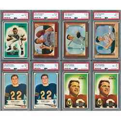1954-55 Bowman HIGH GRADE Multi-Sport Lot with (11) PSA Graded