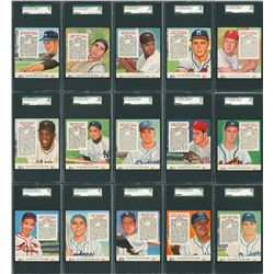 1954 Red Man Tobacco Complete SGC Graded Set (54)