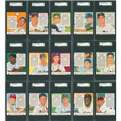 1955 Red Man Tobacco Complete SGC Graded Set (50)