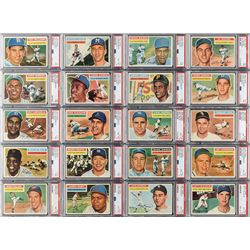 1956 Topps PSA Graded Hall of Famer Collection (33 Different)