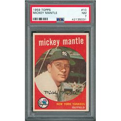 1959 Topps #10 Mickey Mantle - PSA NM 7