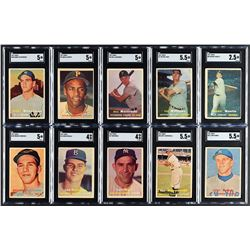 1957 Topps Complete Set (407) with (14) SGC Graded
