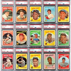 1959 Topps PSA Graded Hall of Famer Star Collection (35 Different)