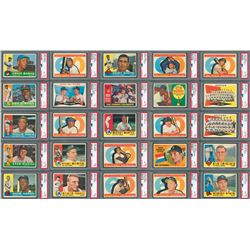 1960 Topps Complete Set of 572 Cards including(46) PSA Graded with a PSA 8 Yaz RC!