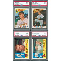 1960 Topps PSA MINT 9 Low Pop Lot (4)