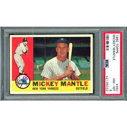 1960 Topps #350 Mickey Mantle - PSA NM-MT 8