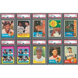 1960-75 Topps and Fleer PSA Graded HOFer Collection