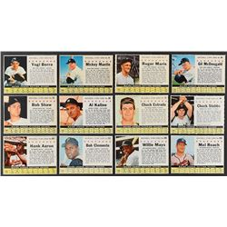 1961 Post Cereal Baseball Complete Set (200)