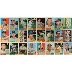 1961 Topps Baseball 24-Card Second Series Uncut Sheet with THREE Hall of Famers including #141 Willi