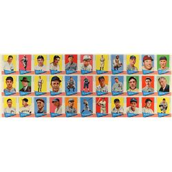 1961/62 Fleer Baseball 33-card High Number Uncut Sheet with Ted Williams and 18 Other Hall of Famers