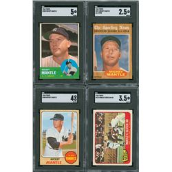 1962-68 Mickey Mantle SGC Graded Lot (4)