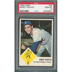1963 Fleer #42 Sandy Koufax PSA GEM MT 10