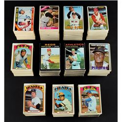 1963-72 Topps & Fleer Baseball Collection of Partial Sets (1,600+ cards)