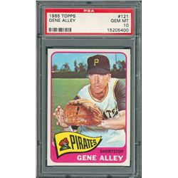 1965 Topps #121 Gene Alley – PSA GEM MINT 10
