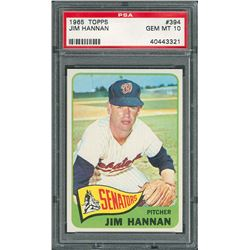 1965 Topps #394 Jim Hannan – PSA GEM MINT 10
