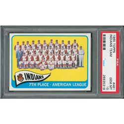1965 Topps #481 Cleveland Indians Team – PSA GEM MINT 10