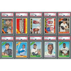 1966 Topps Complete Set (598) with (10) PSA Graded