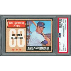 1968 Topps #369 Carl Yastrzemski AS - PSA GEM MINT 10
