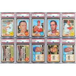 1968 Topps Baseball Vending Box of 400+ cards with (47) PSA Graded