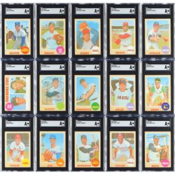 "1968 Topps Baseball ""No Black Ink"" Collection (20)"