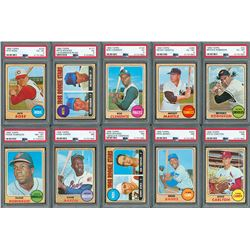 1968 Topps Complete Set with (10) PSA Graded
