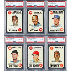 1968 Topps Game Card Mini Hoard (185) with (6) PSA Graded