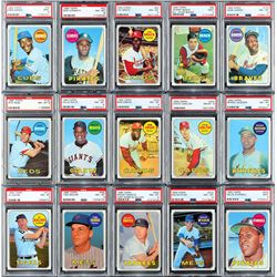 1969 Topps PSA Graded Hall of Famer Star Collection (52 Different)