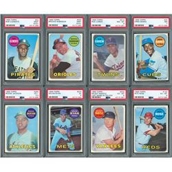 1969 Topps Complete Set (664) with (9) PSA Graded