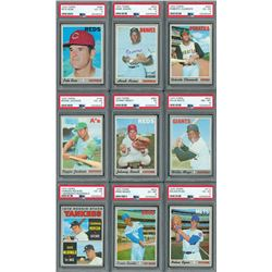 1970 Topps Baseball Complete Set (720) with (6) PSA