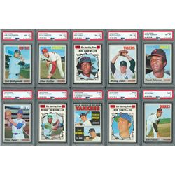 1970 Topps Complete Set with (17) PSA Graded
