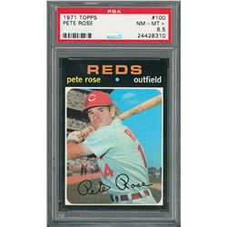 1971 Topps #100 Pete Rose - PSA NM-MT+ 8.5