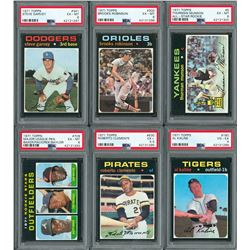 1971 Topps Complete Set (752) with (6) PSA Graded