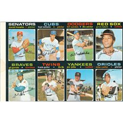 1971 Topps Pair of Uncut Sheets (8 and 24 Cards)