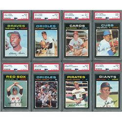 1971 Topps HIGH GRADE Complete Set with PSA (15) Graded