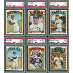 1972 Topps Complete Set with (14) PSA Graded