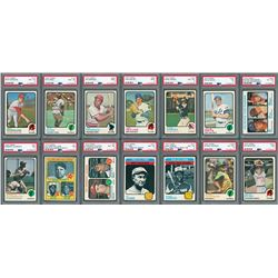 1973 Topps HIGH GRADE Complete Set with (14) PSA Graded
