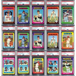 1975 Topps HIGH GRADE Complete Regular and MIni Sets with (35) PSA Graded - TWO HIGH GRADE SETS!