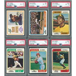 1974 Topps Complete Set with (7) PSA Graded