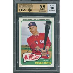 2014 Mookie Betts #ROAMB Rookie Card BAS GEM MINT 9.5