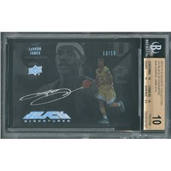 "2012-2013 LeBron James ""Exquisite Collection"" UD Black Autographs - BECKETT PRISTINE 10!"