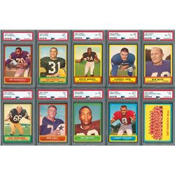 1963 Topps Football HIGH GRADE Complete Set of (176) Cards with (24) PSA Graded